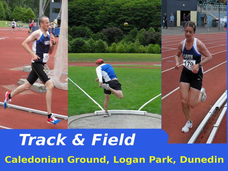 Leith Harriers Athletes participate in the Otago Interclub Track